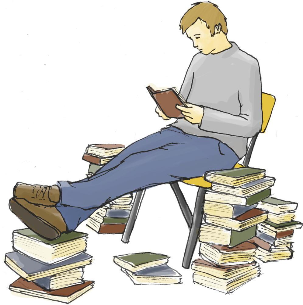Improved Reading hilft, sich durch Bücherstapel durchzuarbeiten. Illustration: Hannes Geipel