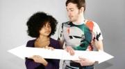Zwei junge Menschen stehen vor der Entscheidung welches Studienfach sie wählen sollen.