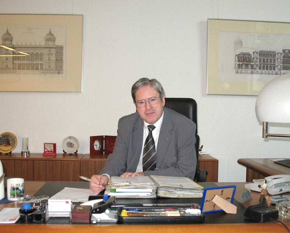 TU-Präsident Jörg Steinbach im Interview mit der Studentenpresse.