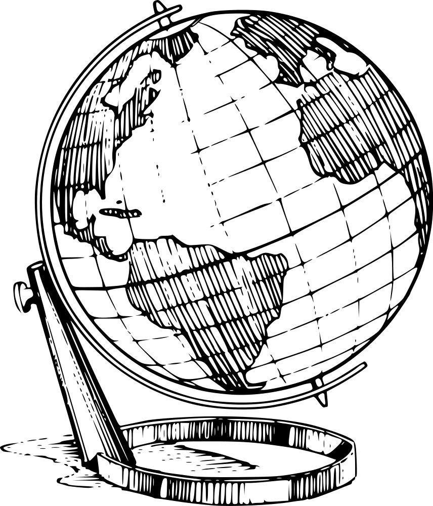 Globus in klassischer Optik