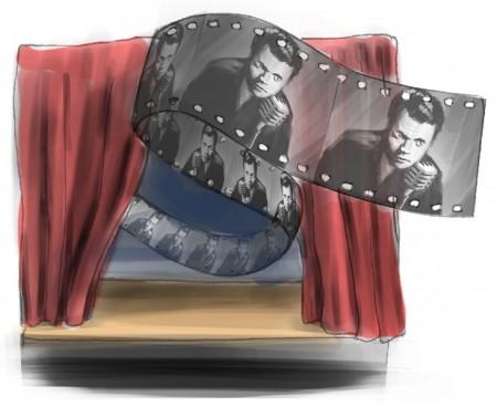 auf Bühne, im Kino und im Radio. Illustration: Hannes Geipel