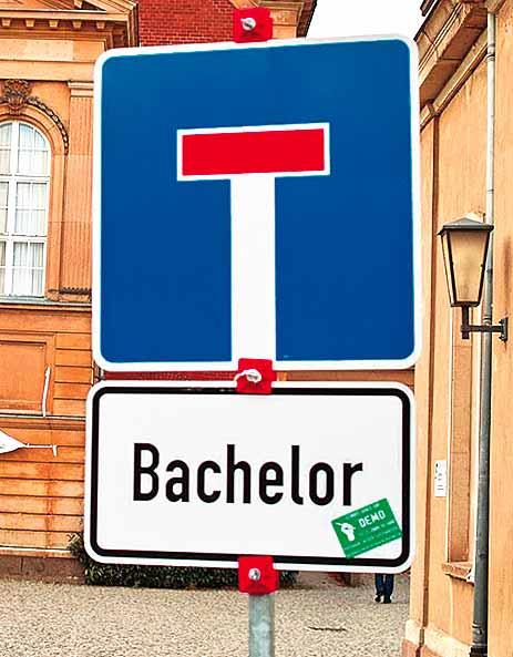 Sackgasse für den Bachelor