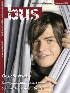 """Titelseite bus #2/2006 """"Gesicht zeigen"""""""