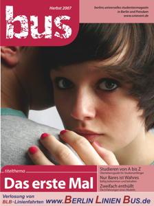 """Titelseite bus #3/2007 """"Das erste Mal"""""""