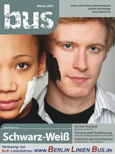 """Titelseite bus #4/2007 """"Schwarz-Weiß"""""""