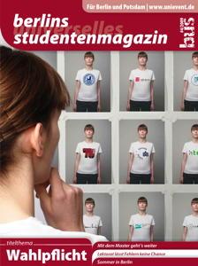 """Titelseite bus #4/2009 """"Wahlpflicht"""""""