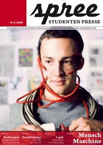 """Titelseite spree #6/2009 """"Mensch–Maschine"""""""
