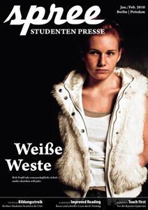 """Titelseite spree #1/2010 """"Weiße Weste"""""""