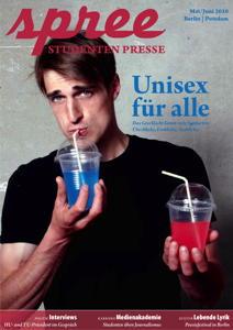 """Titelseite spree #3/2010 """"Unisex für alle"""""""