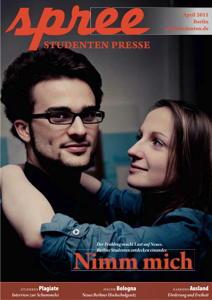 """Titelseite spree #2/2011 """"Nimm mich"""""""