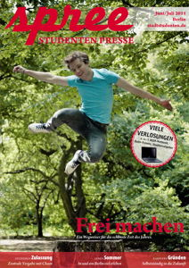 "Titelseite spree #3/2011 ""Frei machen"