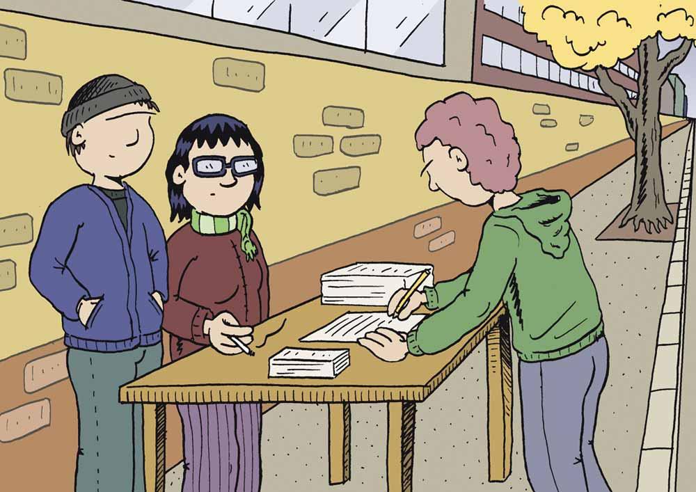 Jeder Studierende in Berlin kann dabei helfen, das beliebte Semesterticket zu retten. Doch die Wahlverdrossenheit der jungen Akademiker lässt die Urabstimmung unter einem schlechten Stern stehen. - Illustration: Markus Blatz