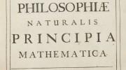 "Deckblatt von Newtons ""Principia Mathematica"""