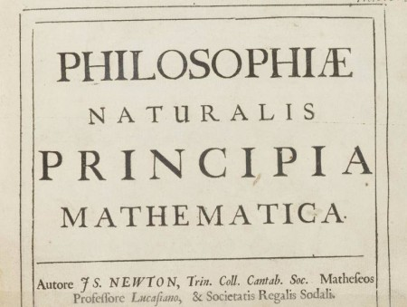 Deckblatt von Newtons Principia Mathematica