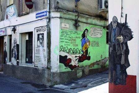 Graffiti in Orgosolo auf Sardinien