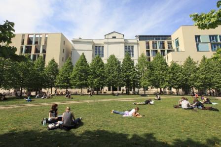 Hegelplatz in Berlin auf dem Campus der HU Berlin