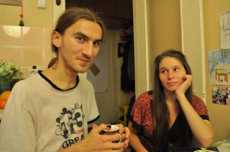 Fedya und Tonya, zwei Couchsurfer in Moskau