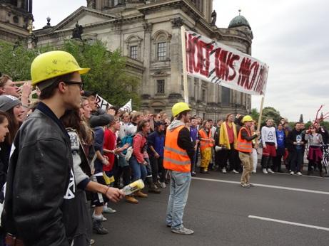 Protest der Studenten der Hochschule für Schauspielkunst Berlin (Foto: privat/HfS Berlin)