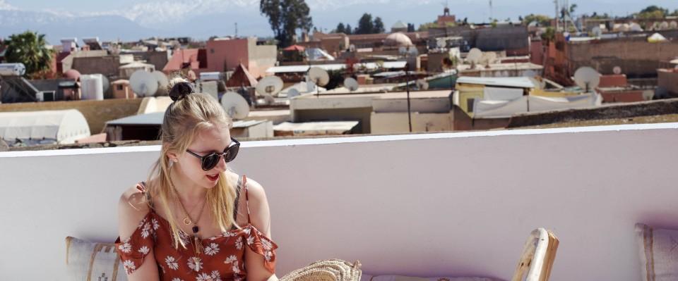 Clara liebt es zu reisen - erst neulich war sie für einen Kurztrip in Marrakesch - Quelle: fashionvernissage.com
